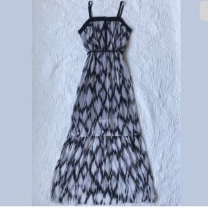 Kensie Dress Maxi Black White Floral Size XS